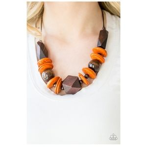 Wooded Bead Necklace
